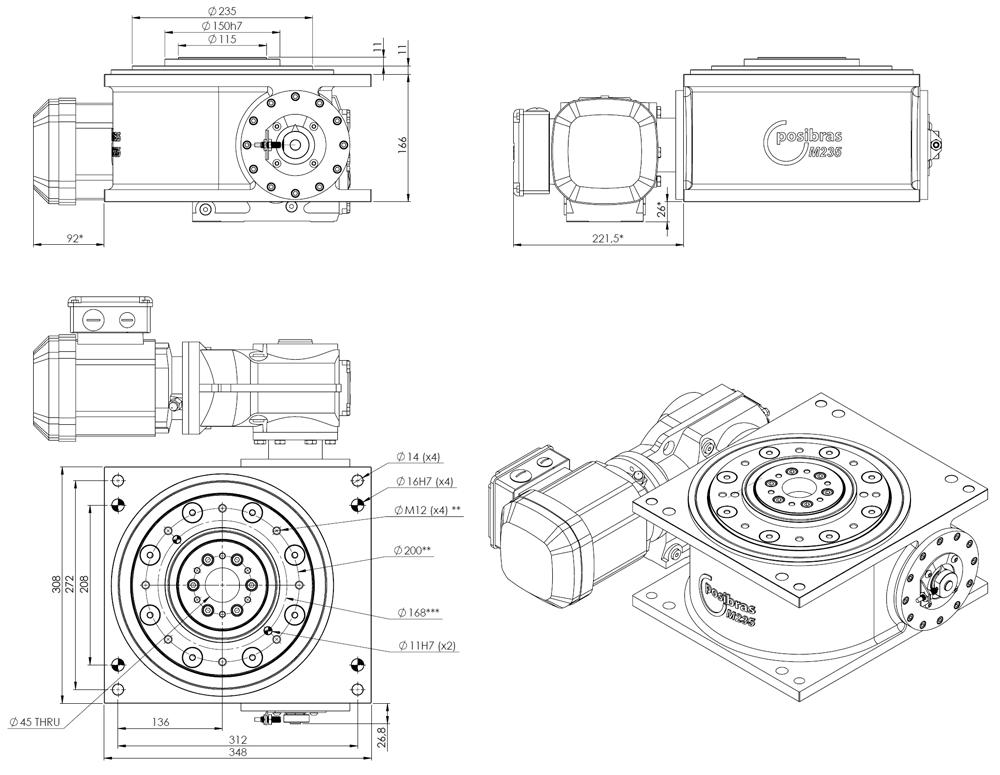 M235 Principais dimensões